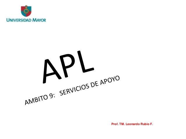 Prof. TM. Leonardo Rubio F.