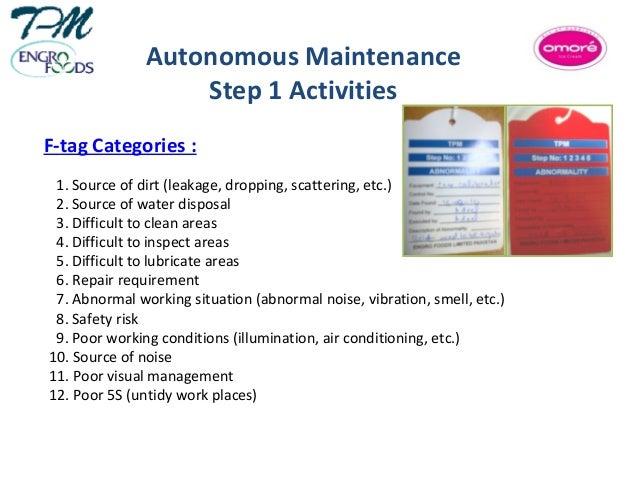 autonomous maintenance presentation