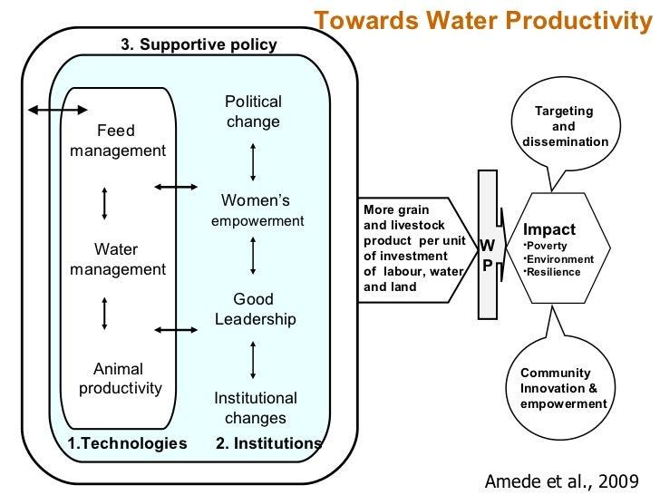 Amede et al., 2009 Towards Water Productivity Political  change  Women's   empowerment Good  Leadership Institutional chan...
