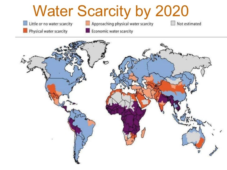 Water Scarcity by 2020