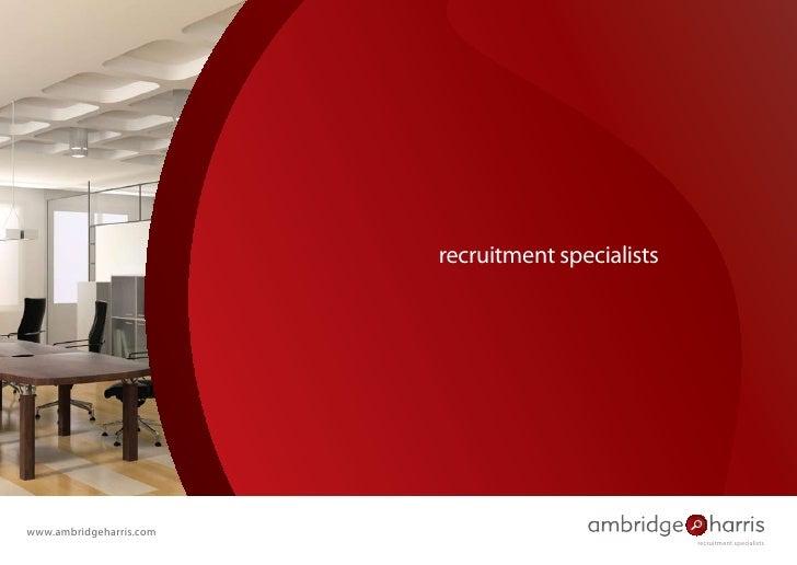 recruitment specialists     www.ambridgeharris.com                                                    recruitment speciali...