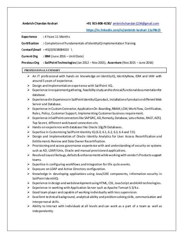 Ambrish keshari resume