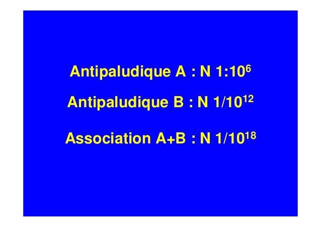 Association d'antipaludiques et prévention des résistances