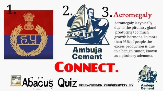 ABACUS QUIZ CONCORRENZA 201: Ambuja Cements round