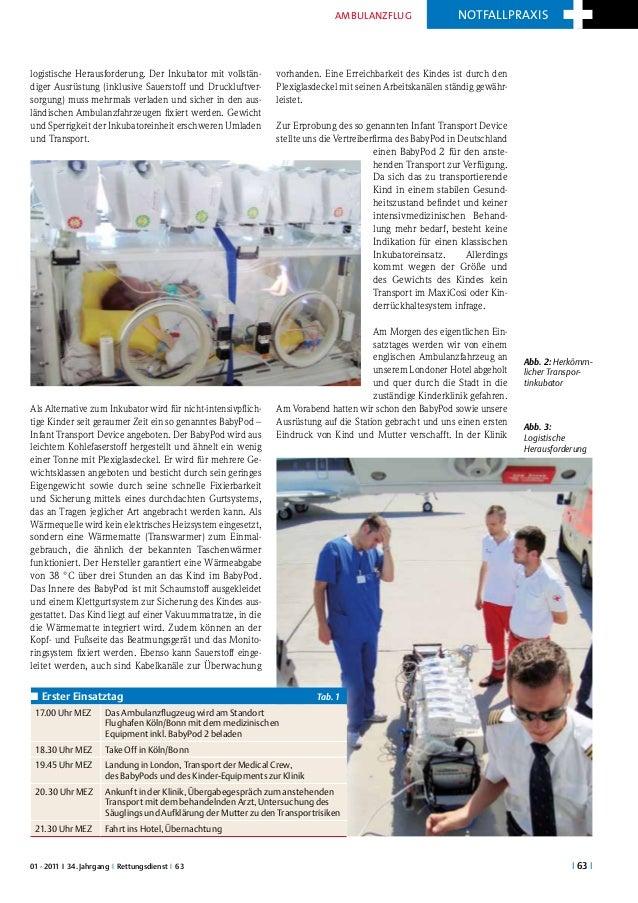 ambulanzflug                   notfallpraxislogistische Herausforderung. Der Inkubator mit vollstän-        vorhanden. Ein...