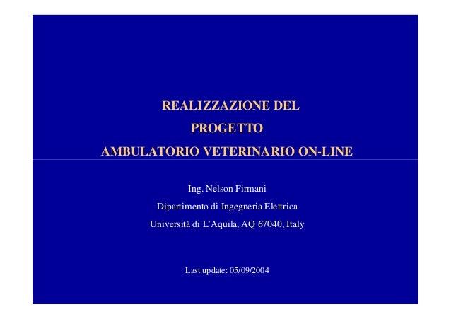 Realizzazione del progetto ambulatorio veterinario on line for Progetto online