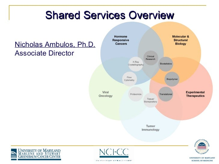 Nicholas Ambulos, Ph.D. Associate Director Shared Services Overview