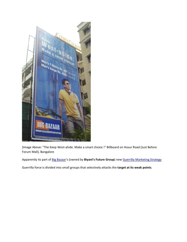 "[Image Above: ""The Keep West-aSide. Make a smart choice !"" Billboard on Hosur Road (Just Before Forum Mall), Bangalore  Ap..."