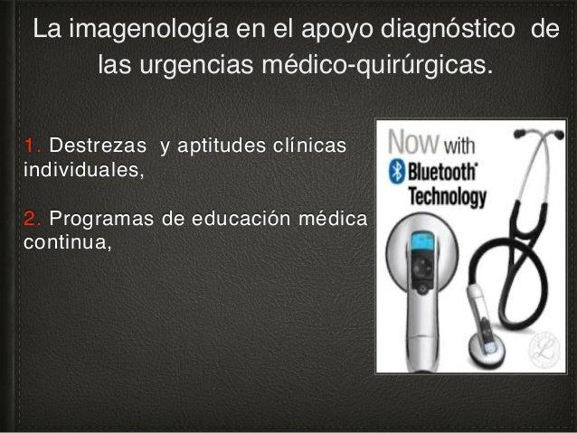 3. Trabajo en equipo, apoyo multidisciplinario, La imagenología en el apoyo diagnóstico de las urgencias médico-quirúrgica...
