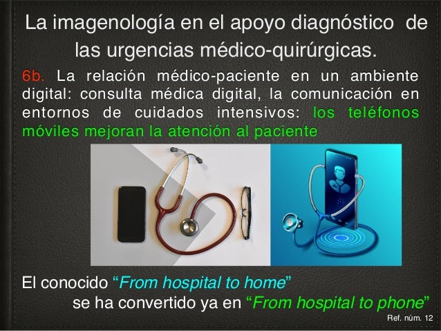 6b. La relación médico-paciente en un ambiente digital: consulta médica digital La imagenología en el apoyo diagnóstico de...