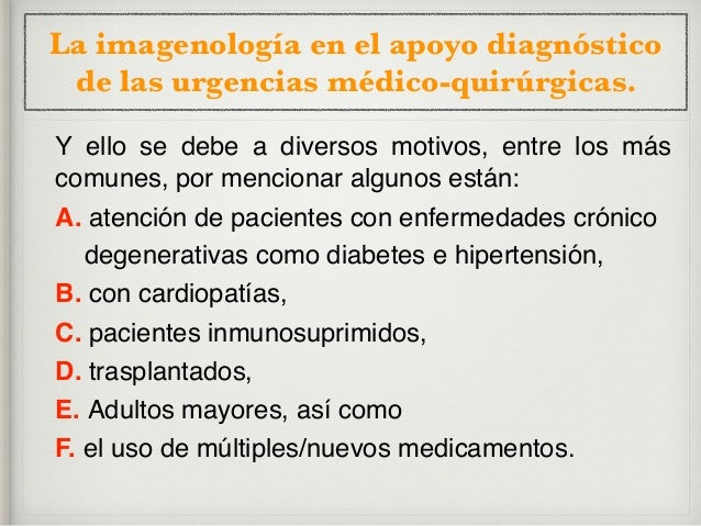 La imagenología en el apoyo diagnóstico de las urgencias médico-quirúrgicas. Red flags, SIGNOS DE ALARMA:  Datos clínicos...