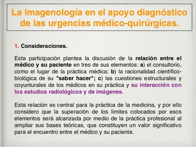 La imagenología en el apoyo diagnóstico de las urgencias médico-quirúrgicas. 2. Antecedentes