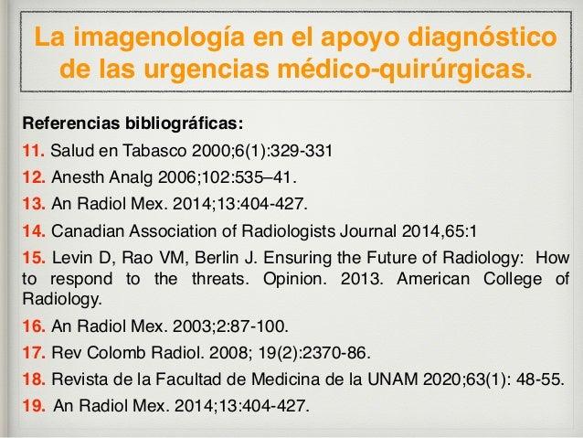 AMC 2021: La imagenología  en el apoyo diagnóstico  de las urgencias médico-quirúrgicas