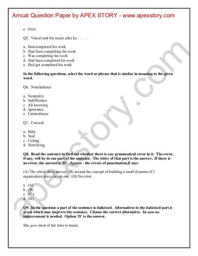 Amcat Previous Papers Pdf