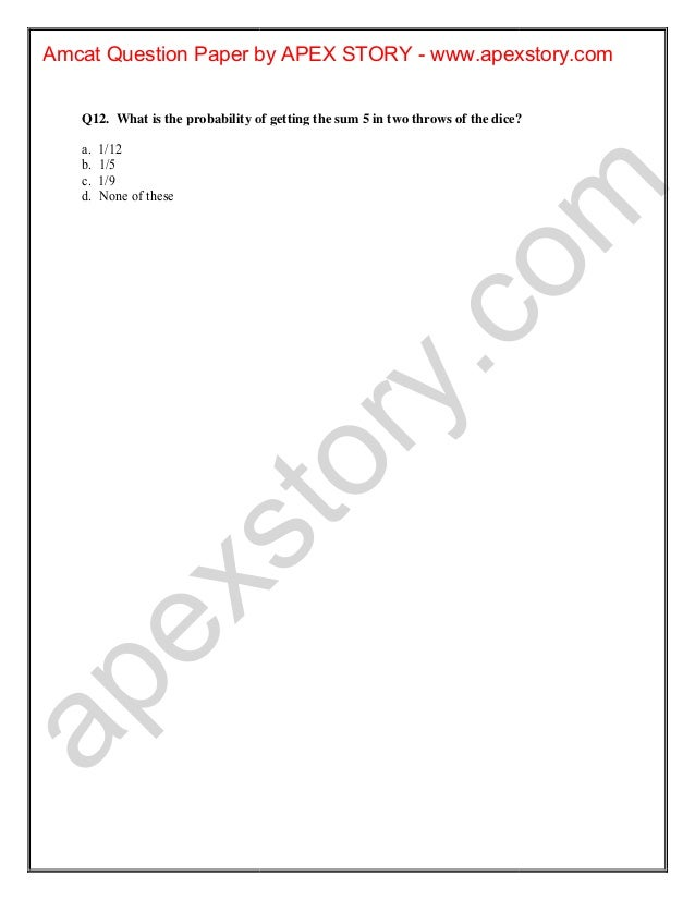 Amcat test-question-papers