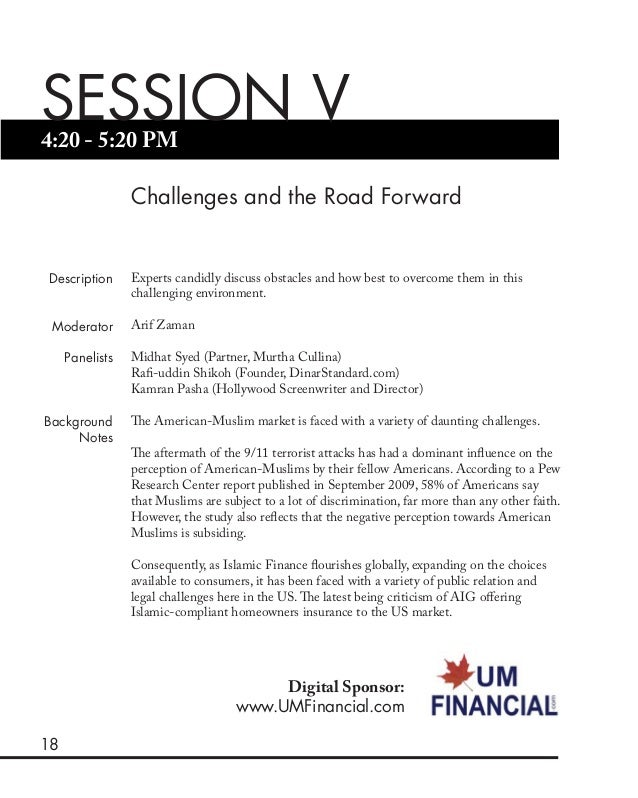 18 4:20 - 5:20 PM SESSION V Challenges and the Road Forward Description Moderator Panelists Background Notes Experts candi...