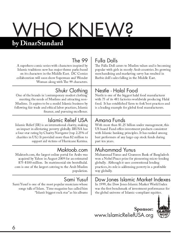 6 WHO KNEW?by DinarStandard The 99 A superhero comic series with characters inspired by Islamic traditions now has major t...