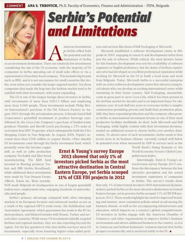 Prof. dr Ana Trbović, Cord magazine, februar 2014..