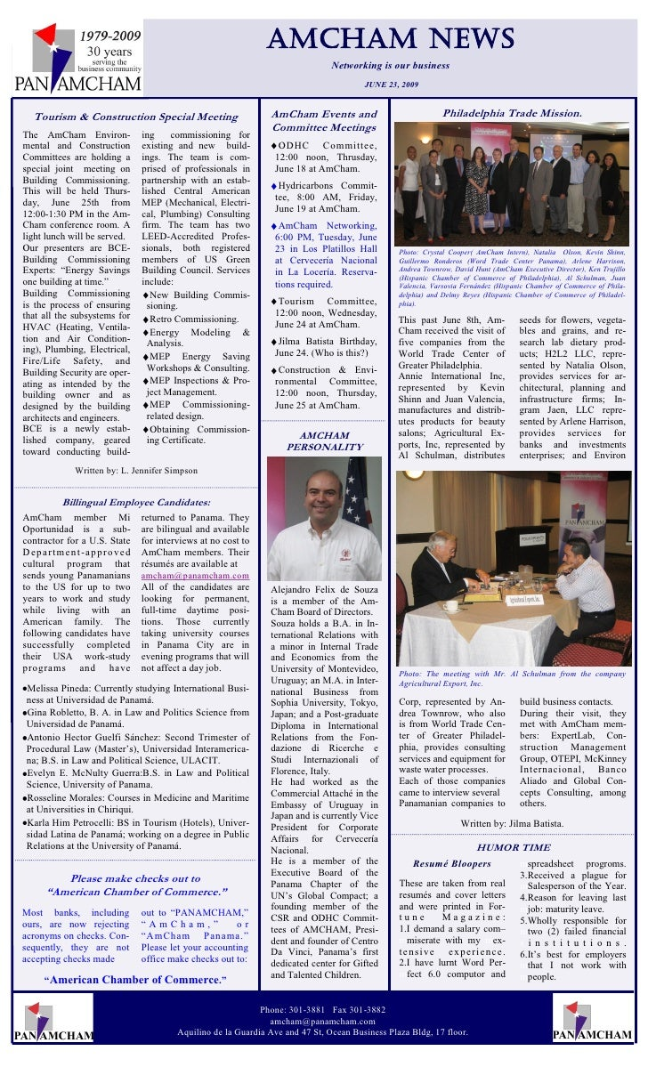 Amcham NEWs                                                                                   Networking is our business  ...