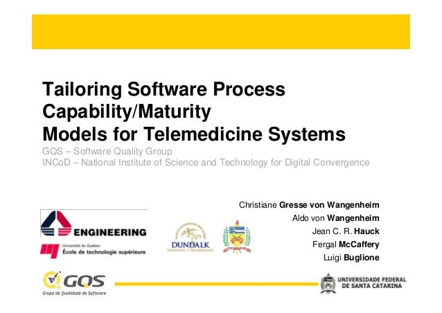 Tailoring Software ProcessCapability/MaturityModels for Telemedicine SystemsGQS – Software Quality GroupINCoD – National I...