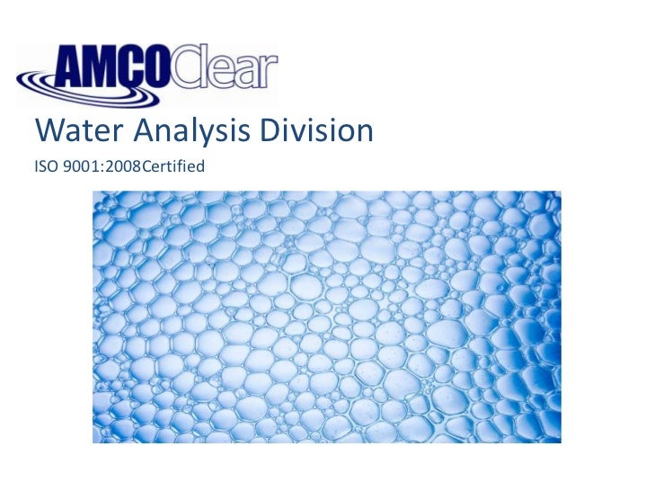 Water Analysis Division<br />ISO 9001:2008Certified<br />