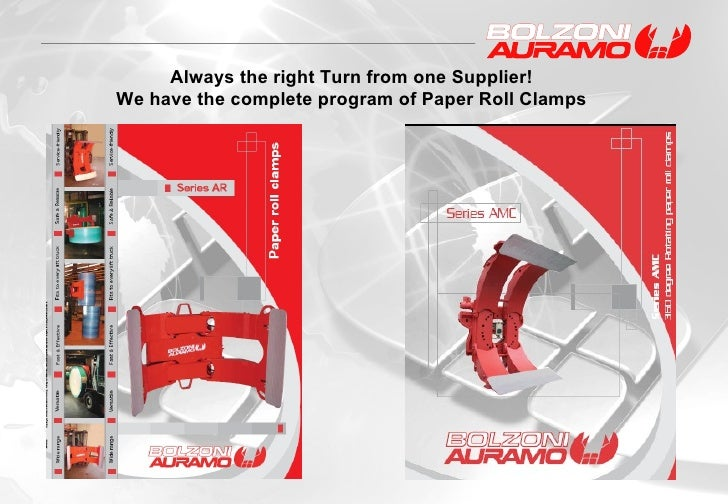 Always the right Turn from one Supplier! We have the complete program of Paper Roll Clamps