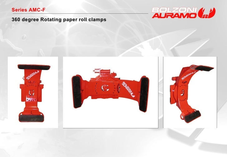 Series AMC-F 360 degree Rotating paper roll clamps