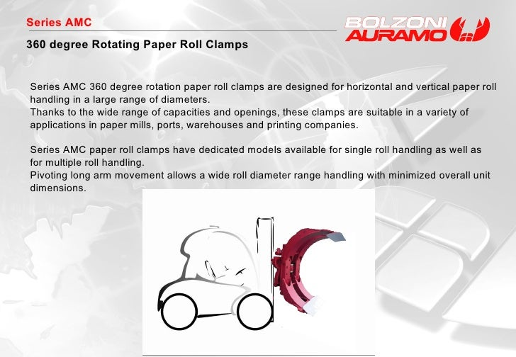 Series AMC 360 degree Rotating Paper Roll Clamps Series AMC 360 degree rotation paper roll clamps are designed for horizon...