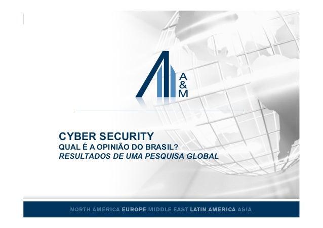 CYBER SECURITY QUAL É A OPINIÃO DO BRASIL? RESULTADOS DE UMA PESQUISA GLOBAL