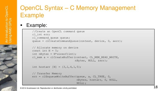 An Introduction to OpenCL™ Programming with AMD GPUs - AMD