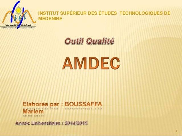 1 INSTITUT SUPÉRIEUR DES ÉTUDES TECHNOLOGIQUES DE MÉDENINE