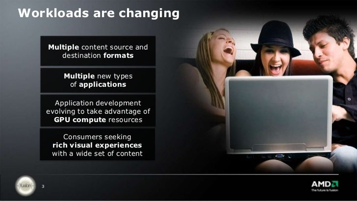 Workloads are changing<br />Multiple content source and destination formats<br />Multiple new typesof applications<br />Ap...