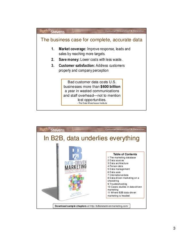 B2B DATA: You Don't Have to Love it, But Don't Ignore it Slide 3