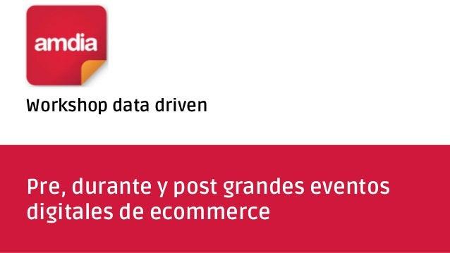 Workshop data driven Pre, durante y post grandes eventos digitales de ecommerce