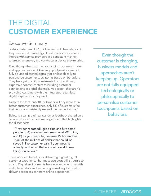 The Digital Customer Experience: Why the Future of the Communications Industry will Pivot Around Customer Experience by Brian Solis Slide 2