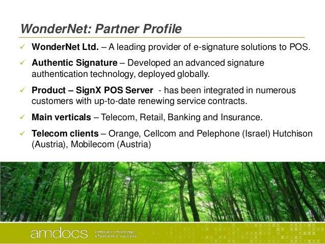 WonderNet: Partner Profile WonderNet Ltd. – A leading provider of e-signature solutions to POS. Authentic Signature – De...