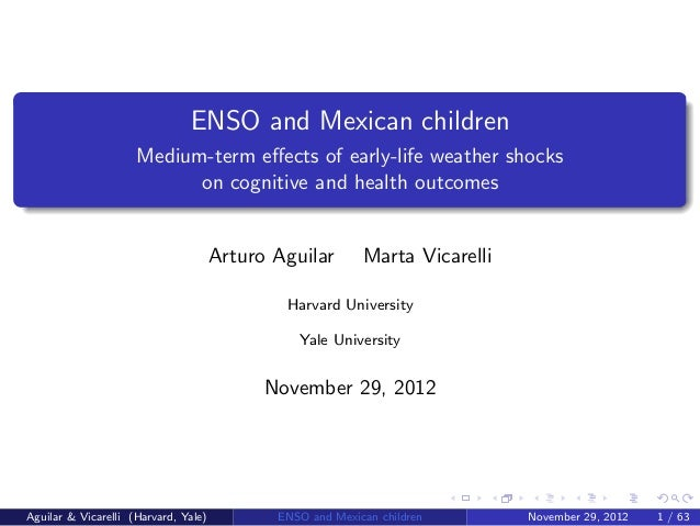 ENSO and Mexican children                     Medium-term effects of early-life weather shocks                           on...