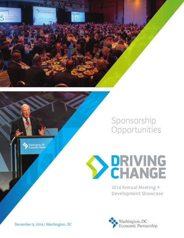 Annual Meeting + Development ShowcaseSponsorship OpportunitiesDecember ,  / Washington, DC
