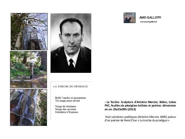 AME-GALLERY www.ame-gallery.fr AME-GALLERY www.ame-gallery.fr - La Torche- Sculpture d'Antoine Mercier, Béton, tubes PVC, ...