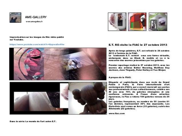 AME-GALLERY www.ame-gallery.fr  F Improvisation sur les images du film vidéo publié sur Youtube. https://www.youtube.com/w...