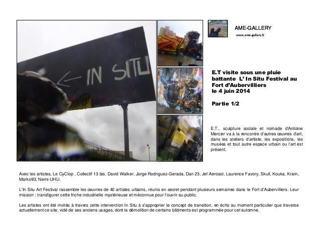 AME-GALLERY www.ame-gallery.fr AME-GALLERY www.ame-gallery.fr E.T visite sous une pluie battante L' In Situ Festival au Fo...