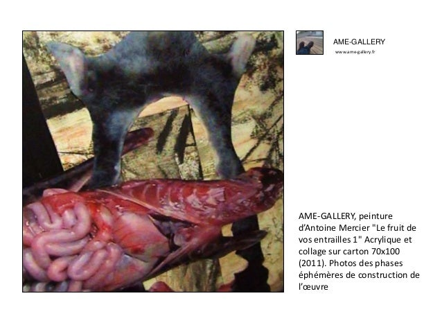 """AME-GALLERY www.ame-gallery.fr AME-GALLERY, peinture d'Antoine Mercier """"Le fruit de vos entrailles 1"""" Acrylique et collage..."""