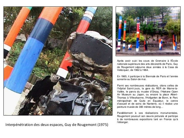 Interpénétration des deux espaces, Guy de Rougemont (1975) Après avoir suivi les cours de Gromaire à l'École nationale sup...