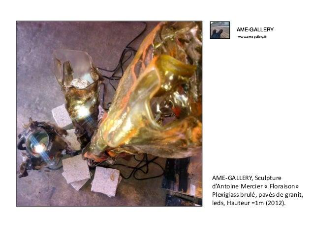 AME-GALLERY www.ame-gallery.fr AME-GALLERY, Sculpture d'Antoine Mercier « Floraison» Plexiglass brulé, pavés de granit, le...