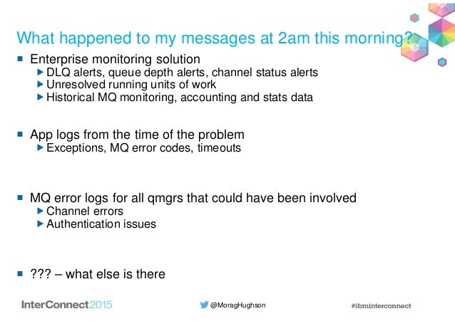 @MoragHughson What happened to my messages at 2am this morning? Enterprise monitoring solution DLQ alerts, queue depth ale...