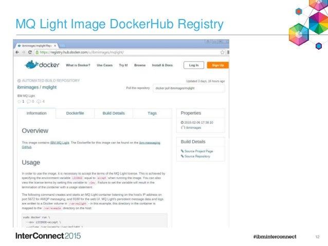 MQ Light Image DockerHub Registry 12