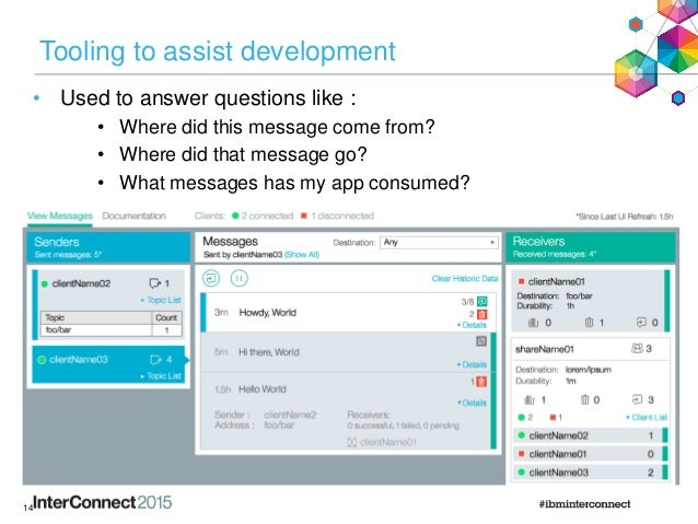 Tooling to assist development • Used to answer questions like : • Where did this message come from? • Where did that messa...