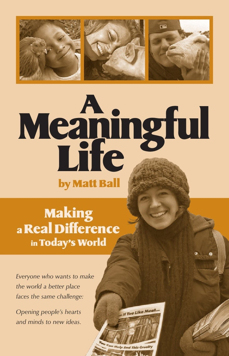 A Meaningful  Life          by Matt Ball       Making a Real Difference      in Today's World   Everyone who wants to make...