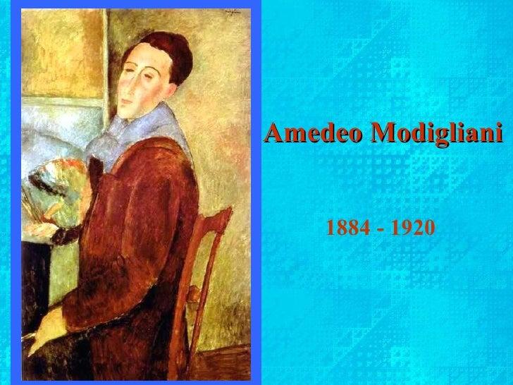 Amedeo Modigliani: Amedeo Clemente Modigliani