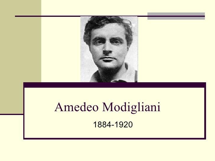 Amedeo Modigliani 1884-1920